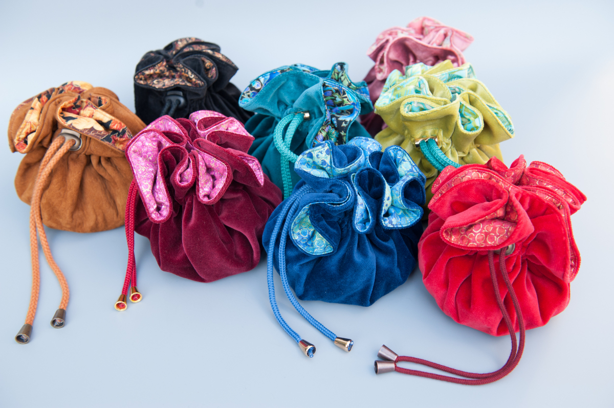 Stoffen dice bags